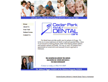 Tablet Preview of cedarparkfamilydental.net